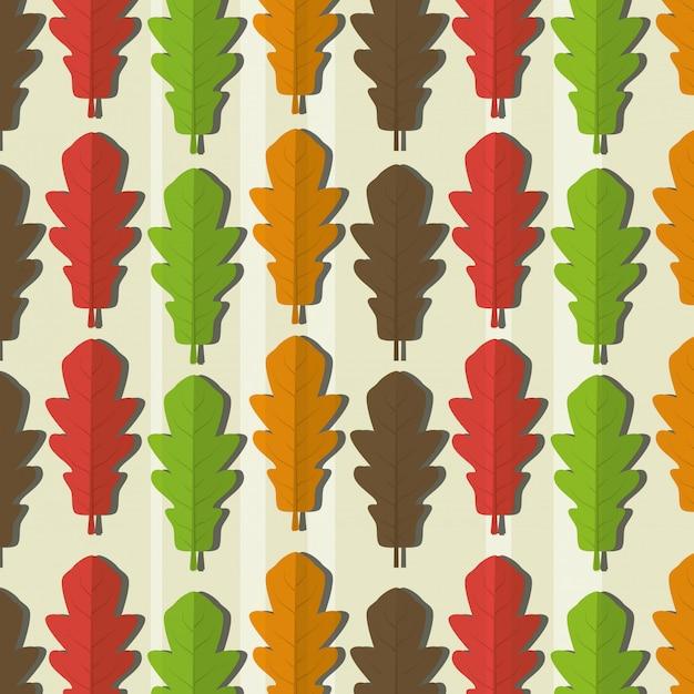 エコロジーの葉のパターン 無料ベクター