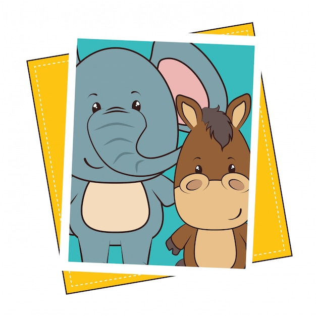 Животное и животные смешной мультфильм Бесплатные векторы