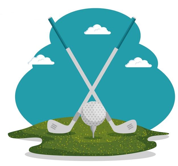 ゴルフスポーツイラスト 無料ベクター