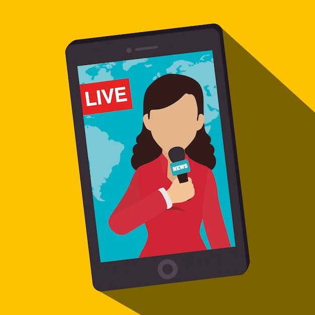 Новости сми на мобильном Бесплатные векторы