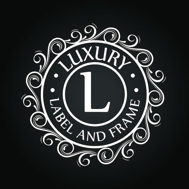 Круг логотип с орнаментом Бесплатные векторы