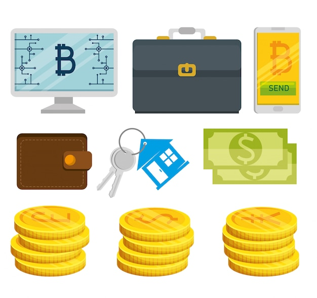 Набор финансовых элементов Бесплатные векторы