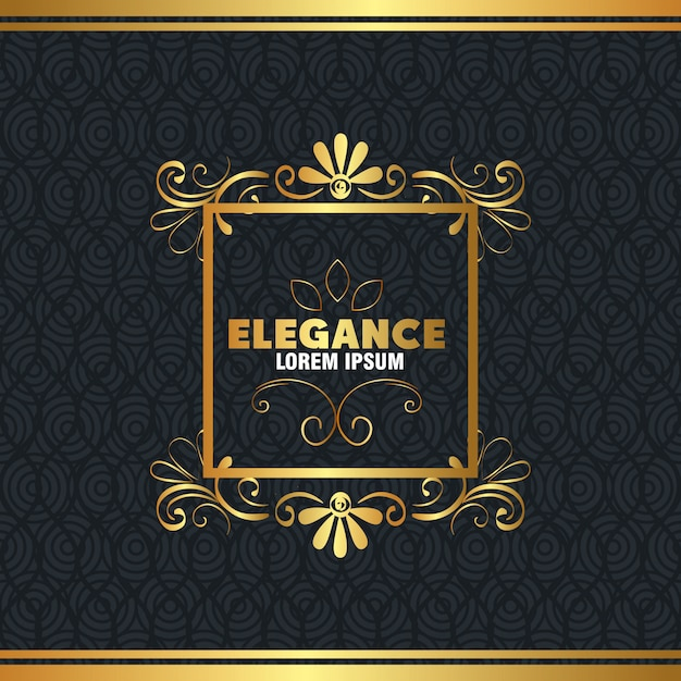 エレガンススタイルのゴールデンフレーム 無料ベクター