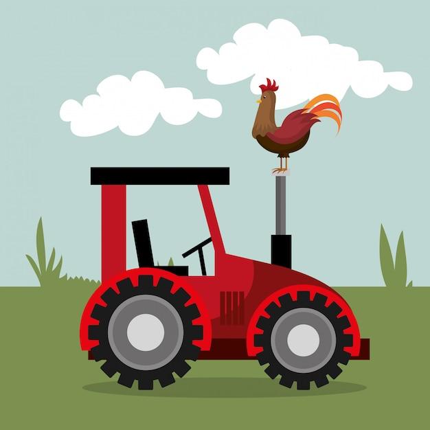 農場の自然とライフスタイル 無料ベクター
