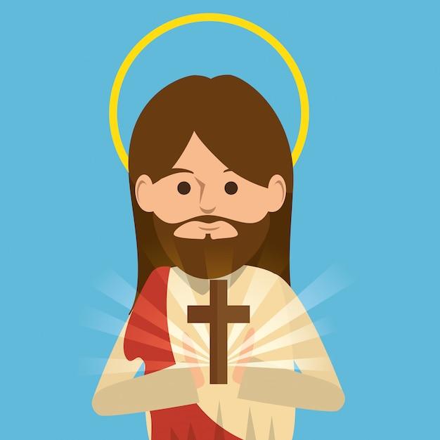 イエス・キリストの宗教的性格 無料ベクター