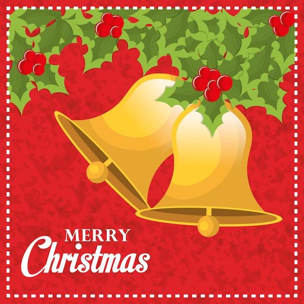 メリークリスマスと幸せな新年のカードデザイン 無料ベクター