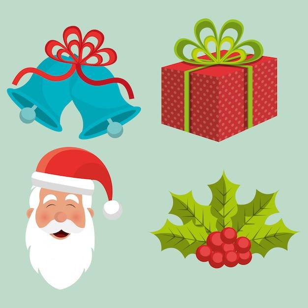 Счастливого рождества, красочная открытка Бесплатные векторы