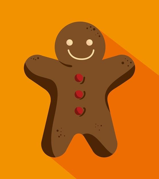 ジンジャーブレッドのクッキーマン 無料ベクター