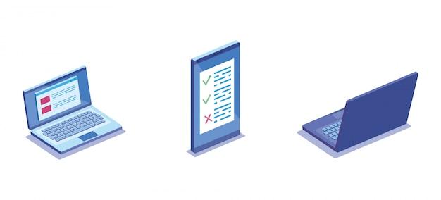Смартфон с электронным оборудованием Бесплатные векторы
