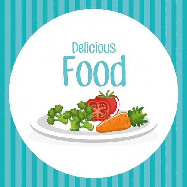 Овощи вкусная еда завтрак Бесплатные векторы