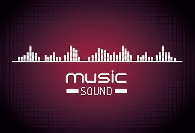 音楽サウンドの背景デザイン 無料ベクター