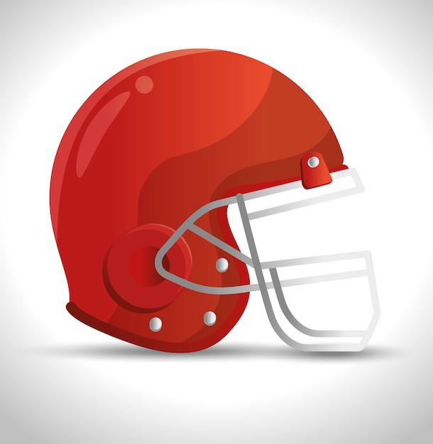 Американский футбол спортивный значок Бесплатные векторы