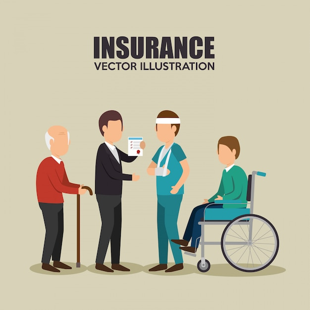 エージェント保険健康設計 無料ベクター