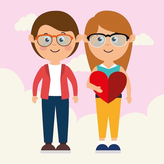 Любовь и день святого валентина Бесплатные векторы
