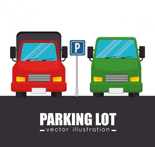 駐車場車グラフィック 無料ベクター