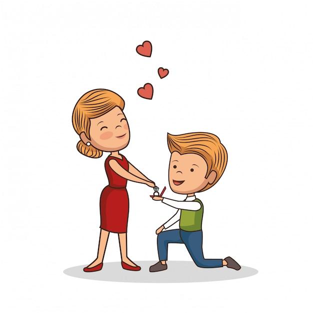 素敵なカップルのバレンタインデー 無料ベクター