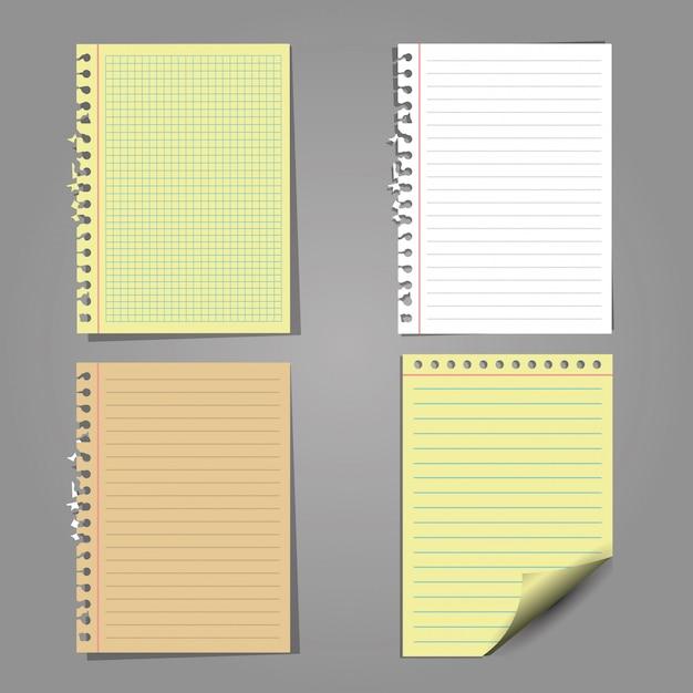 Набор листов бумаги Бесплатные векторы