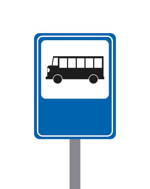 Концепция автобуса изолированный дизайн Premium векторы