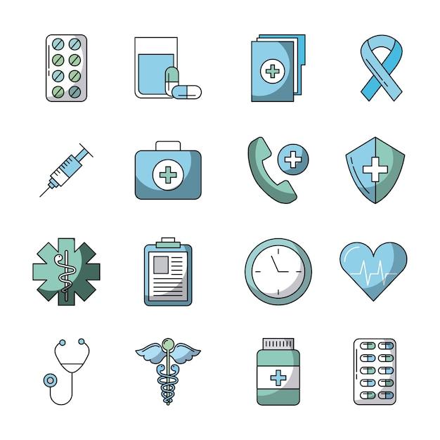 ヘルスケア関連のアイコン Premiumベクター