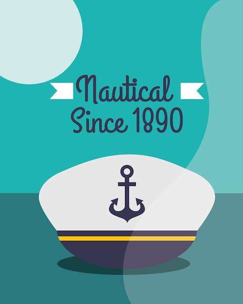 Морской морской дизайн Premium векторы