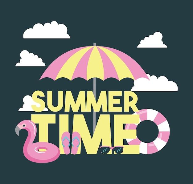 Летние каникулы Premium векторы