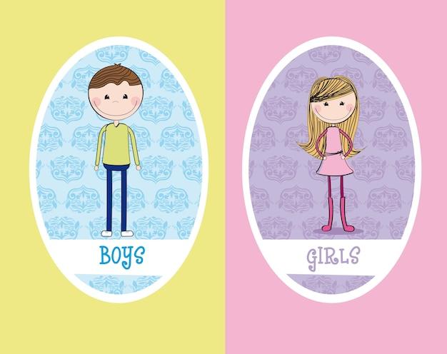 Картинки мальчик и девочка на туалет