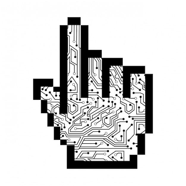 Указатель дизайн на белом фоне векторные иллюстрации Premium векторы
