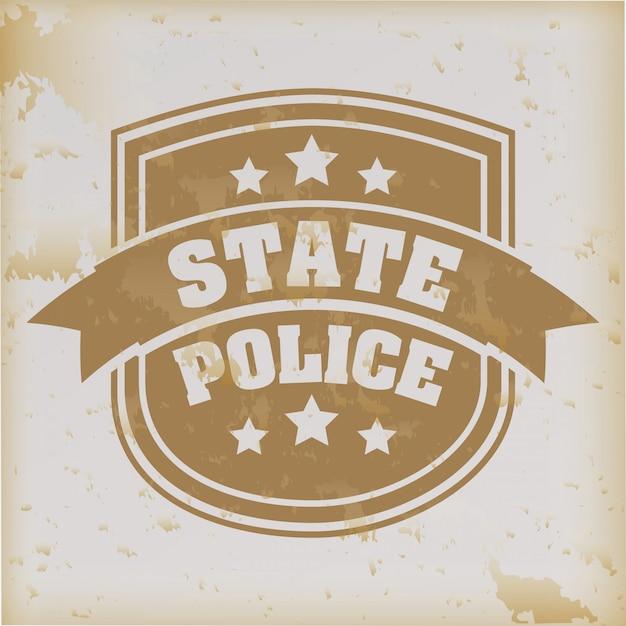 ヴィンテージの背景に州警察 Premiumベクター
