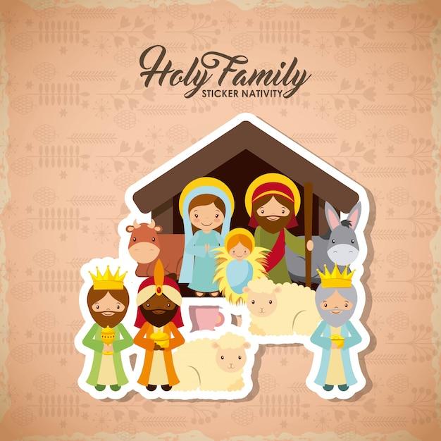聖なる家族のデザイン Premiumベクター
