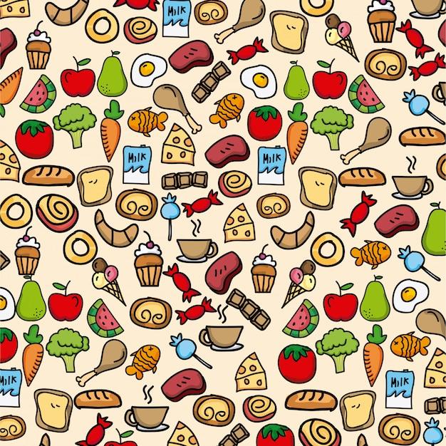 健康的な食品クリームの背景ベクトル図 Premiumベクター