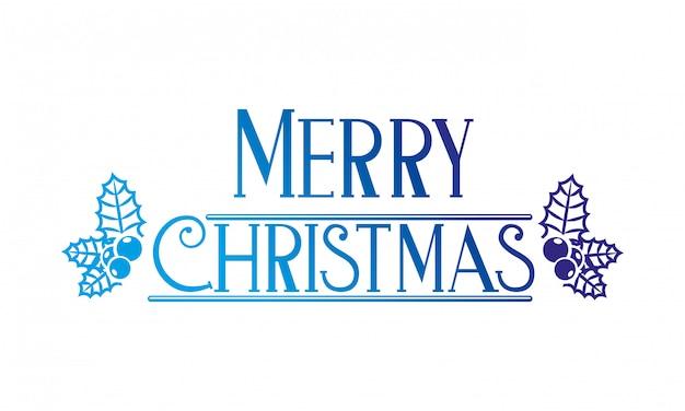 メリークリスマスの装飾 Premiumベクター