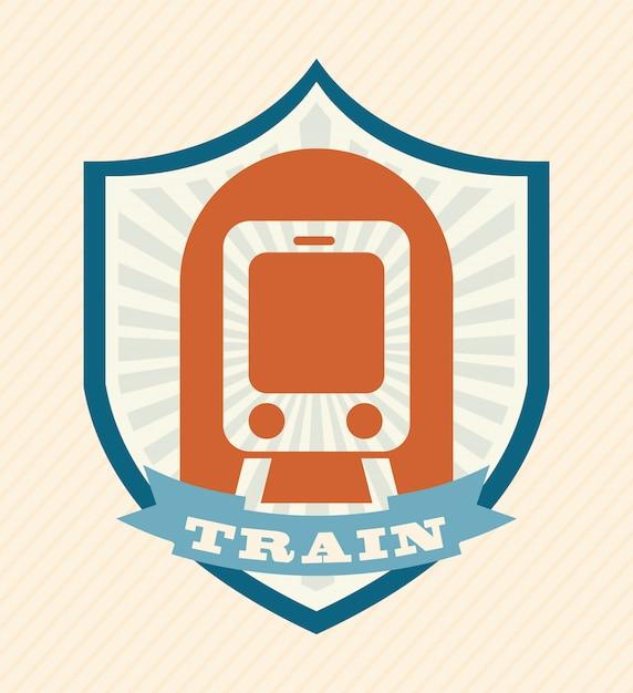 Дизайн поезда на розовом фоне векторные иллюстрации Premium векторы