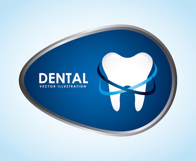 歯科デザイン、青、背景、ベクトル、イラスト Premiumベクター
