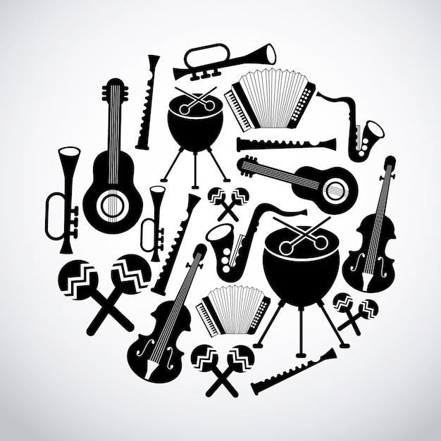 Музыкальный дизайн Premium векторы