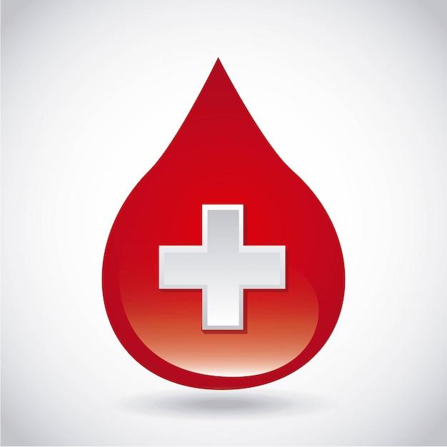 寄付血液設計 Premiumベクター