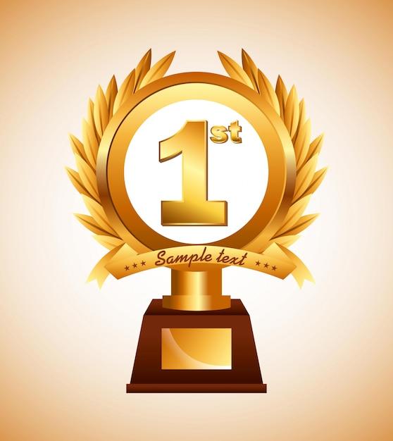 Награда дизайн Premium векторы