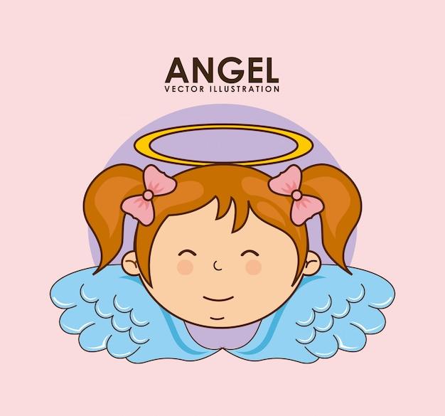 Дизайн ангела Premium векторы