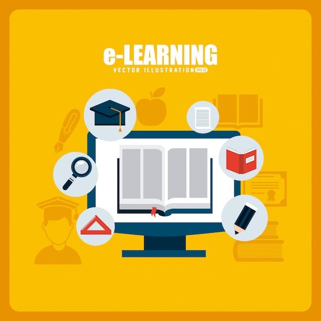 Электронное обучение Premium векторы