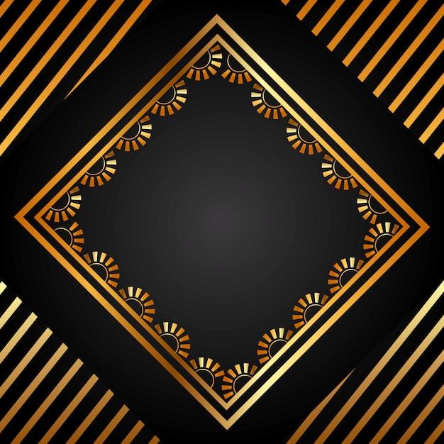 Золотой фон Premium векторы