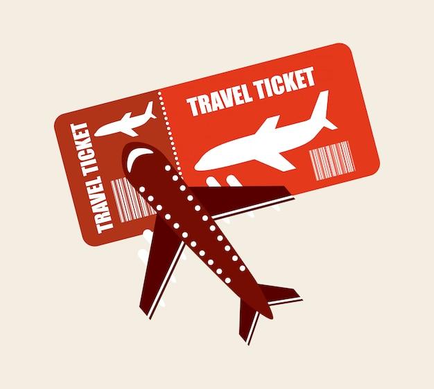 Билет на самолет Premium векторы