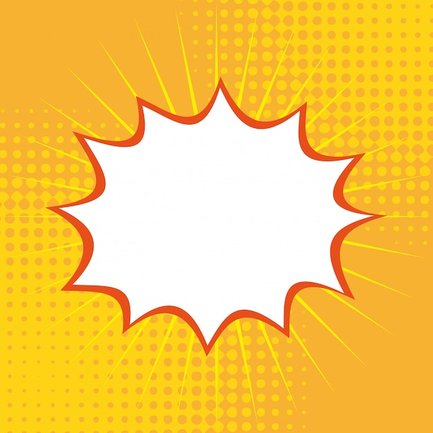 Поп-арт на желтом фоне векторных иллюстраций Premium векторы