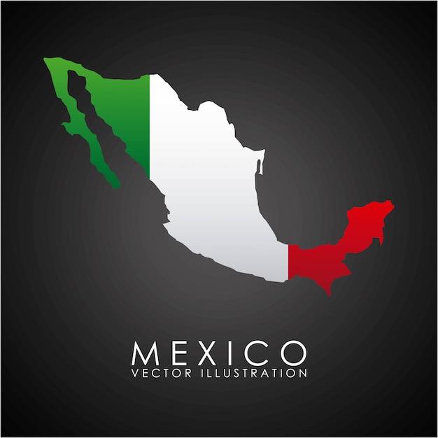 黒の背景ベクトルイラストメキシコデザイン Premiumベクター