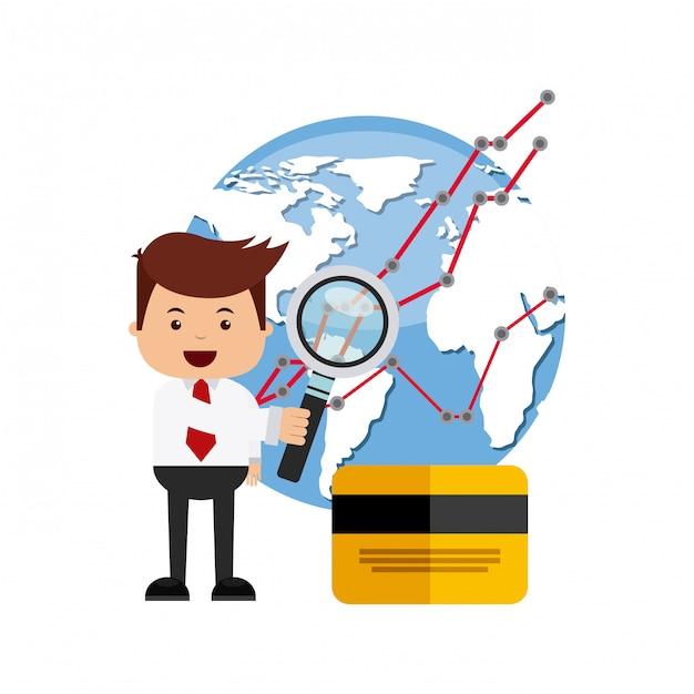 国際証券取引所のアイコン Premiumベクター