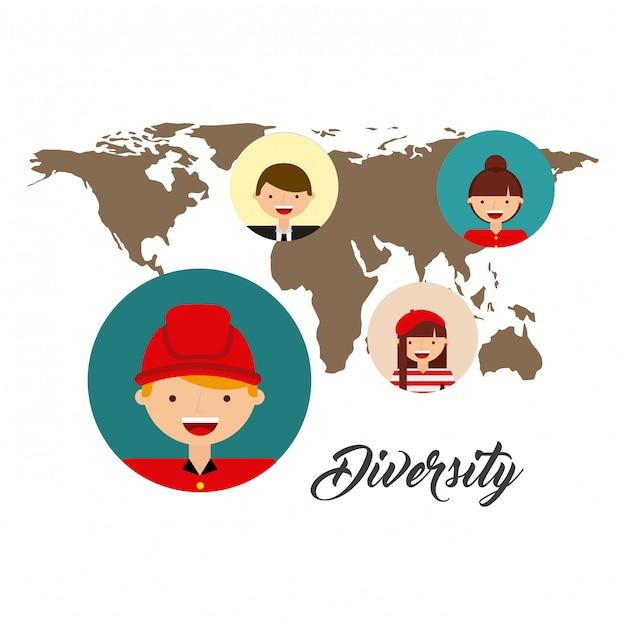 世界文化の多様性 Premiumベクター