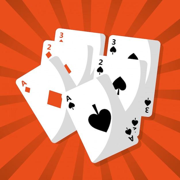 ポーカートランプデッキハザードチャンス Premiumベクター