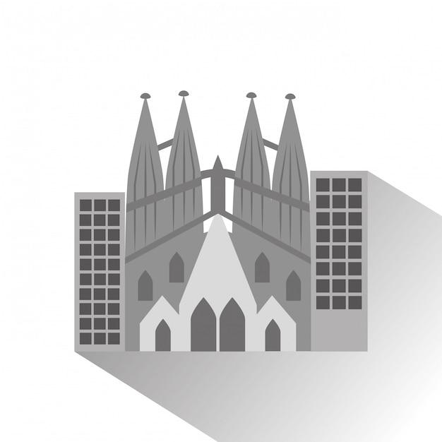 サグラダファミリアガウディ大聖堂 Premiumベクター
