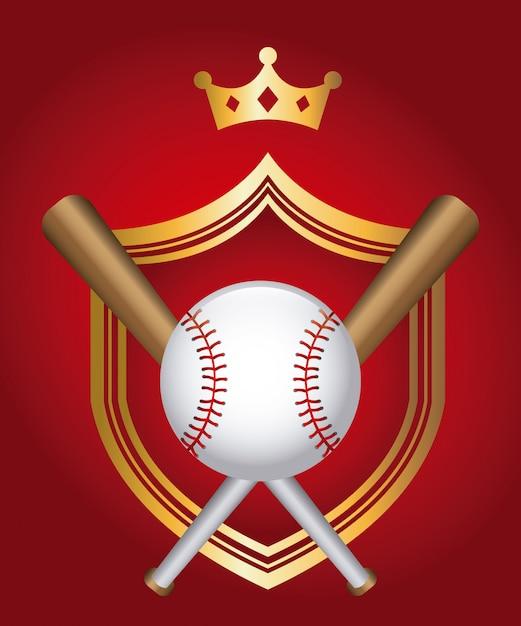 Игра в бейсбол Premium векторы