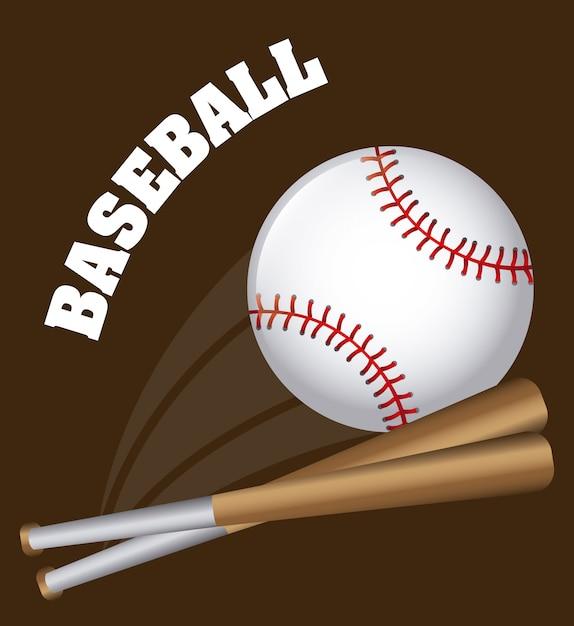 Бейсбольный дизайн Premium векторы