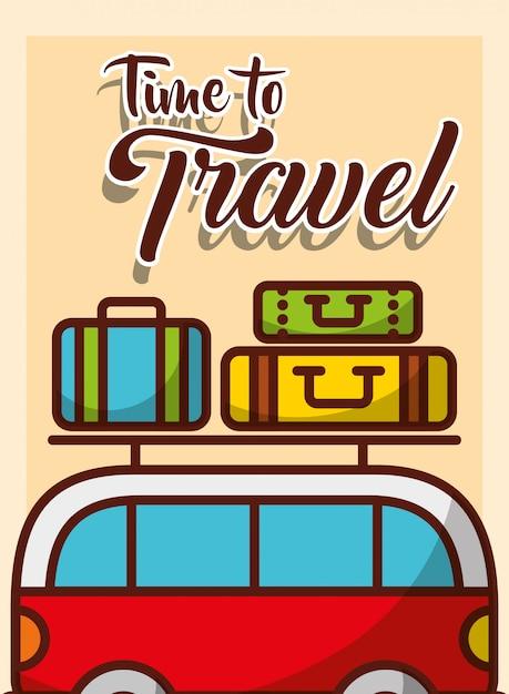 旅行する時間 Premiumベクター