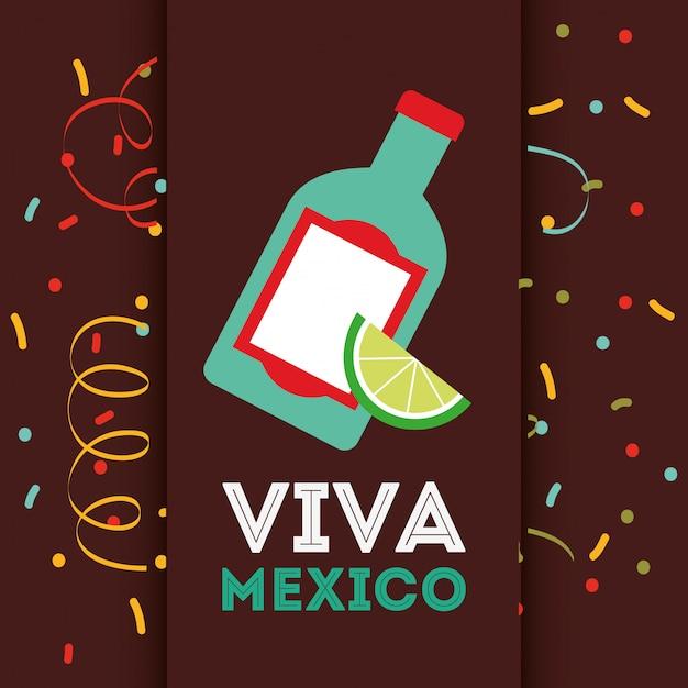 メキシコの飲み物のデザイン Premiumベクター